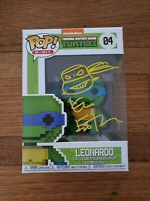 Kevin Eastman Signed Leonardo Funko Pop with sketch. Includes COA