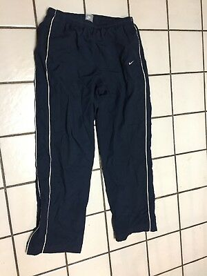 NIKE SWOOSH blue pants mens L Warm Up Track Running athletic sport jersey lined