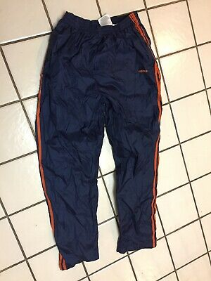 ADIDAS Tear Away Pants mens L Blue Orange Basketball Athletic Track sport