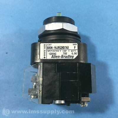 Allen Bradley 800H-16JRG2KB7AX Illuminated Selector Switch 2567