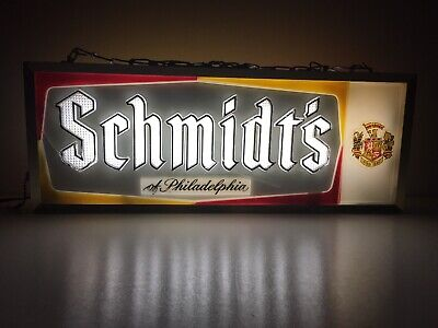 Schmidt's Beer Vintage 1960s Double Sided Lighted Brewery Advertising Sign