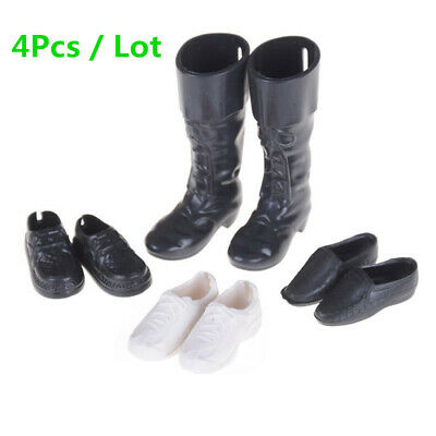4 Pairs Ken Doll Shoes Sneakers Boots For Barbie Boyfriend Cloth Outfit Fashion