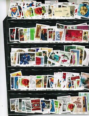 CANADA  RECENT  STAMPS -- GROUP of over 100 off paper see scan  used LOT 304-3
