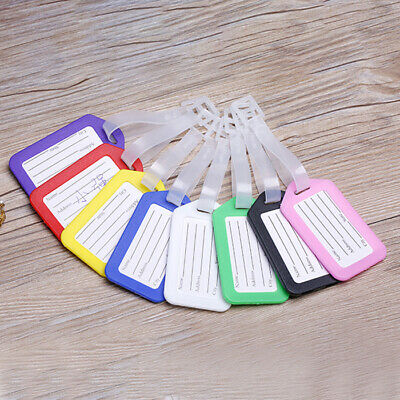 10PCS Travel Luggage Bag Tag Plastic Suitcase Baggage Office Name Address ID