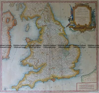 Antique Map 4-183 England and Wales by Robert c.1753