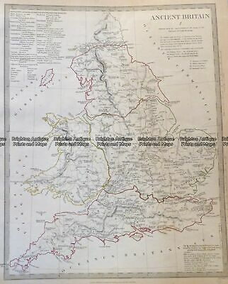 Antique Map 4-167 Ancient England and Wales c.1844