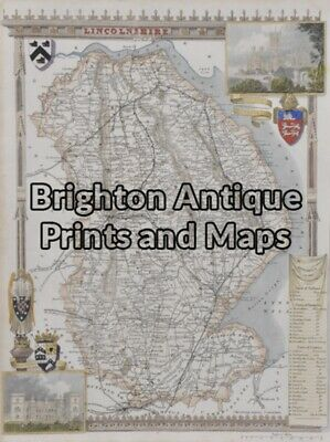 Antique Map 4-162 - England - Lincolnshire Moule - circa 1840 Hand coloured stee