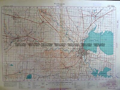 Antique Map 3-306 Victoria - Geelong region military map c. 1928