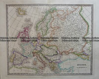 Antique Map 5-070 Europe by Teasdale c.1847