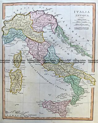Antique Map 2-133 Ancient Italy by Wilkinson c.1830