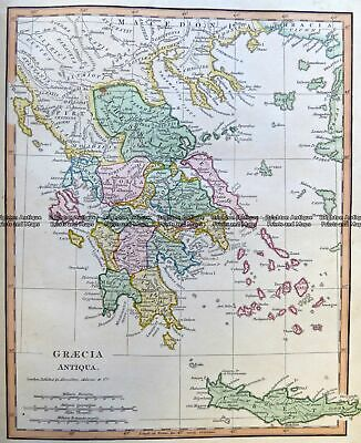 Antique Map 5-263 Greece in Ancient Times by Wilikinson c.1830