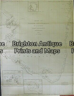 Antique Map 3-523 Flinders chart of Gulf of Carpentaria c.1814
