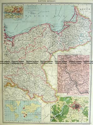 Antique Map 5-207 Germany - Eastern by Halmsworth c.1905