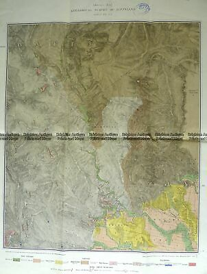 Antique Map 3-819 Victoria - Gippsland geological map c.1884