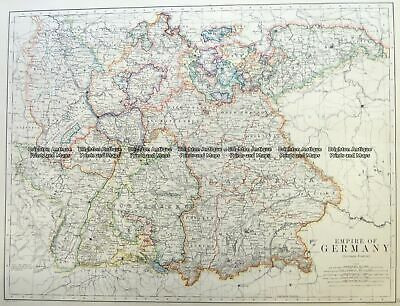Antique Map 5-223 Germany by Johnston c.1886