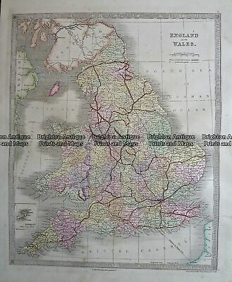 Antique Map 4-199 England by Teasdale c. 1847