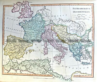 Antique Map 4-193 Europe in Ancient Times by Wilkinson c.1830