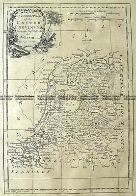 Antique Map 5-169 Holland or United Provinces by Gibson c.1771