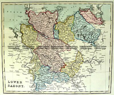 Antique Map 5-214 Germany - Lower Saxony c. 1800