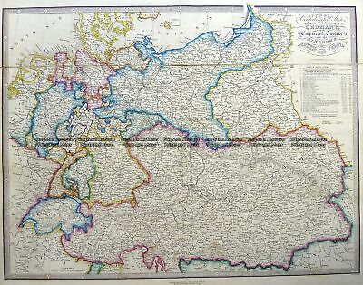 Antique Map 5-227 Germany by J Wyld c.1853