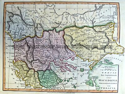 Antique Map 5-265 Macedonia in Ancient Times by Wilkinson c.1830
