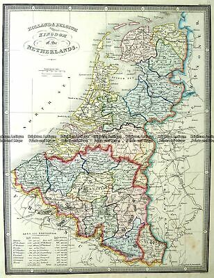 Antique Map 5-171 Holland and Belgium by J Wyld c.1853