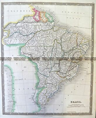 Antique Map 8-005 Brazil by Teesdale c.1837