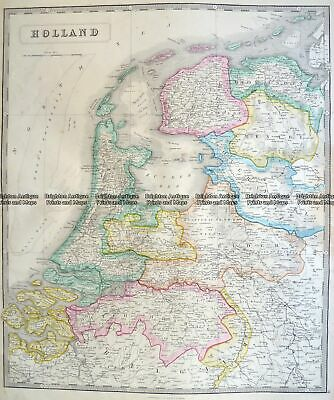 Antique Map 5-157 Holland by J Wyld c.1840
