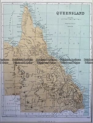 Antique Map 230-103 Queensland by Virtue c.1873