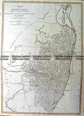 Antique Map 230-150 New Map of the Jaghir Lands by Laurie & Whittle c.1794