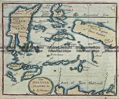 Antique Map 230-544 Molucca Islands by Morden c.1693