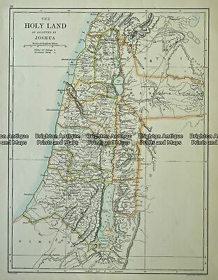 Antique Map 234-504 The Holy Land by Johnston c.1886