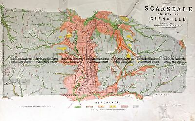 Antique Map 236-019 Geological map of Scarsdale in Victoria c.1889