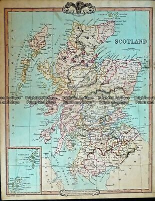 Antique Map 232-404 Scotland by Cruchley c.1834