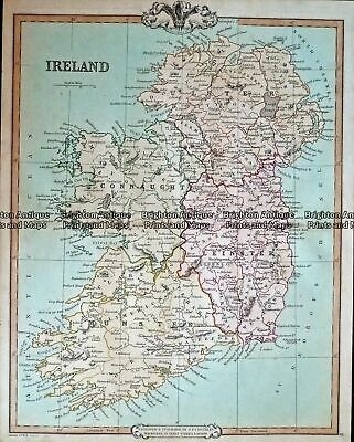 Antique Map 232-405 Ireland by Cruchley c.1834