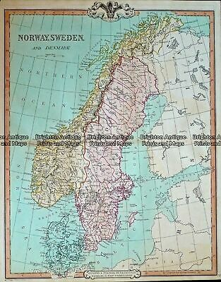 Antique Map 232-406 Scandinavia by Cruchley c.1834