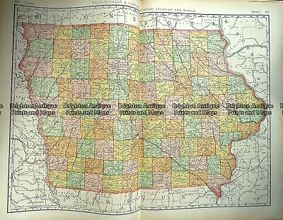 Antique Map 233-018 Iowa USA by Rand McNally c.1894