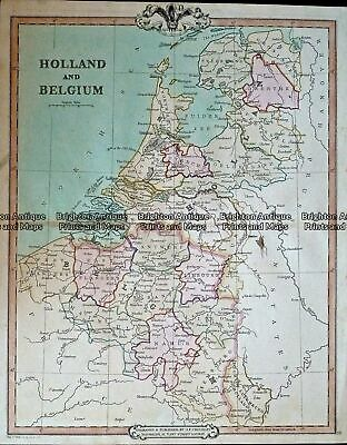 Antique Map 232-408 Holland & Belgium by Cruchley c.1834