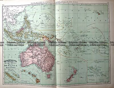 Antique Map 233-025 Oceania by Rand McNally c.1894