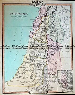 Antique Map 232-417 Palestine by Cruchley c.1834