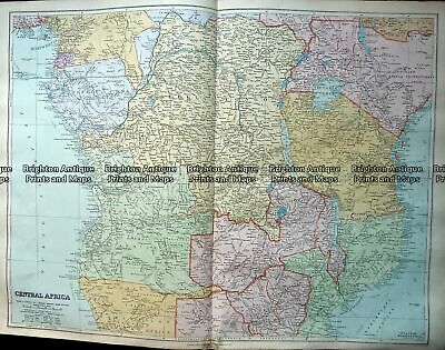 Antique Map 233-323 Africa - Central by Stanford c.1887