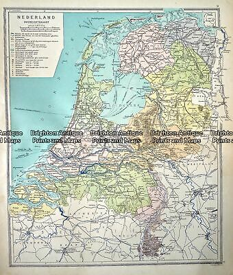 Antique Map 233-342 Holland by Wolters c.1929