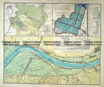 Antique Map 233- 340 Holland - Oosterbeek by Wolters c.1929