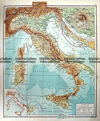 Antique Map 233-349 Italy by Wolters c.1929