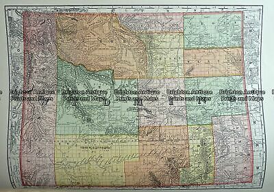 Antique Map 233-252 Wyoming USA by Rand McNally c.1894