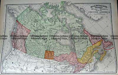 Antique Map 233-255 Canada by Rand McNally c.1894