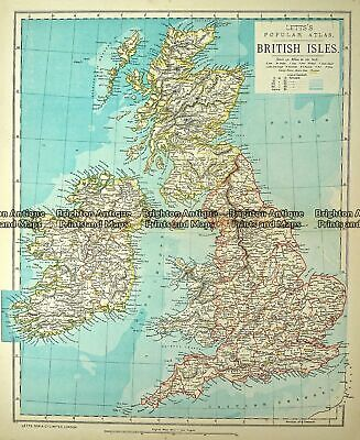 Antique Map 233-366 Britain by Letts c.1880