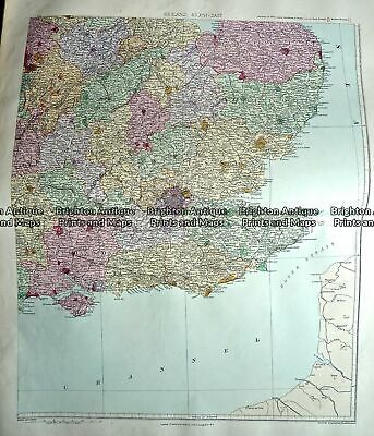 Antique Map 233-293 England - South East England by Stanford c.1887