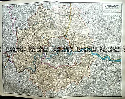 Antique Map 233-298 Outer London by Stanford c.1887