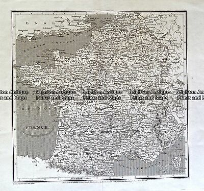 Antique Map 233-407 France by Arrowsmith c.1807